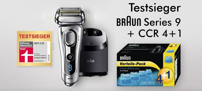 Testsieger Braun Series 9 + CCR 4+1