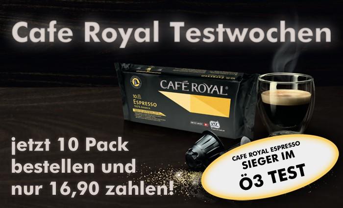 Cafe Royal Testwochen – jetzt 10 Pack bestellen und nur 16,90 zahlen