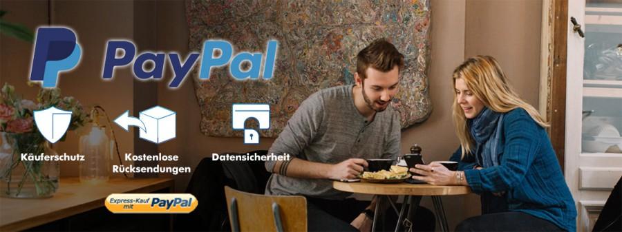 PayPal. Käuferschutz, kostenlose Rücksendung, Datensicherheit. Express-Kauf mit PayPal.
