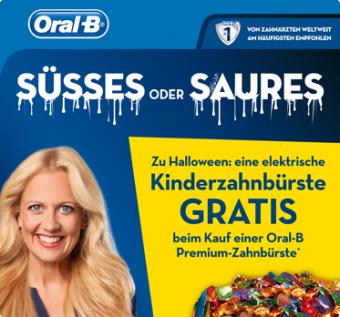 Kinderzahnbürste GRATIS beim Kauf einer Oral-B Premium-Zahnbürste